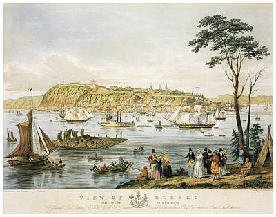 Quebec City Painting - Quebec Skyline, C1844 by Granger