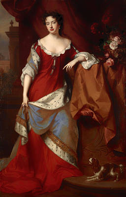 Queen Anne Painting - Queen Anne When Princess Of Denmark by Mountain Dreams