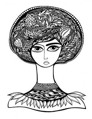 Artichoke Drawing - Queen Artichoke by Jody Pham