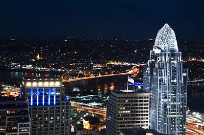 Cincinnati Photograph - Queen City At Night by Russell Todd
