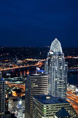Ohio River Photograph - Queen City Tower by Russell Todd