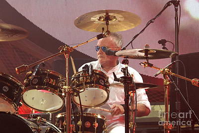 Photograph - Queen Drummer Roger Taylor by Concert Photos