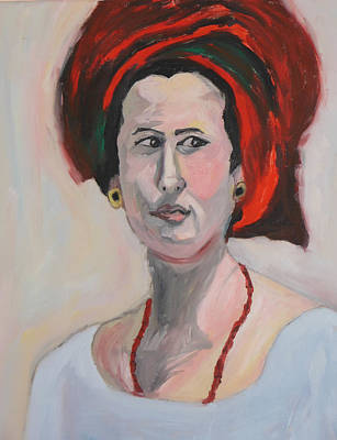Purim Painting - Queen Esther by Esther Newman-Cohen