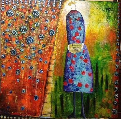 Copper Color Painting - Queen For A Day by Aisha Khan