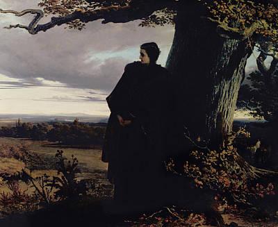 Romania Photograph - Queen Isabellas Farewell To Transylvania, 1863 Oil On Canvas by Sandor Wagner