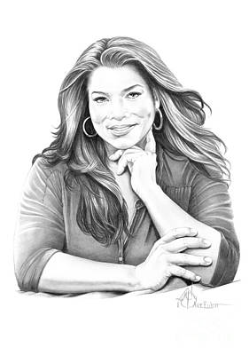 Hip Hop Drawing - Queen Latifah by Murphy Elliott