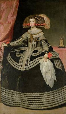 Hoop Skirt Photograph - Queen Maria Anna Of Austria 1634-96, C. 1652 Oil On Canvas by Diego Rodriguez de Silva y Velazquez