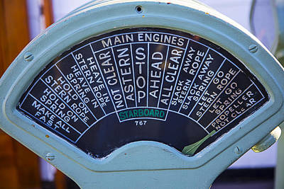 Queen Mary Photograph - Queen Mary Engine Controls  by Garry Gay