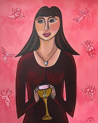 Queen Mary Magdalene - Grail Secrets Original by Sandra Marie Adams