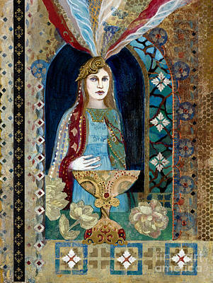 Chalice Mixed Media - Queen Of Cups by Diane Soule