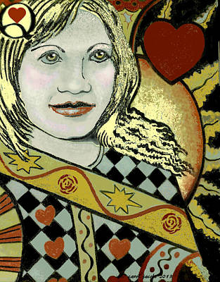 Valentine Painting - Queen Of Hearts II by Carol Jacobs