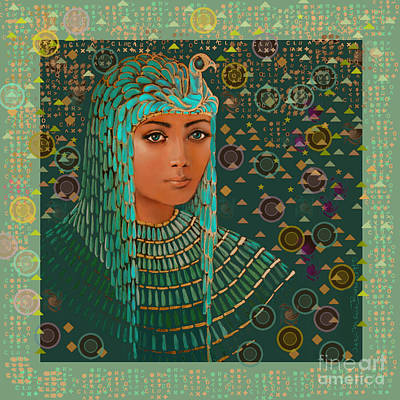 Queen Of Lost Language Print by Jean Marie Bowcott