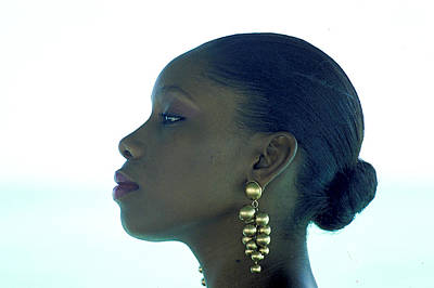 Gold Earrings Photograph - Queen Of The Caribbean by Carl Purcell