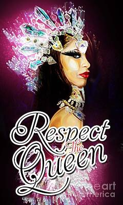 Aaliyah Digital Art - Queen Of The Damned  by Respect the Queen