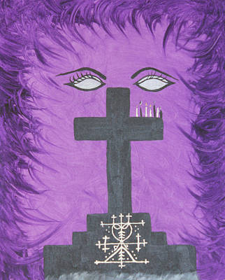 Vodou Painting - Queen Of The Ghede by Dayila Divine