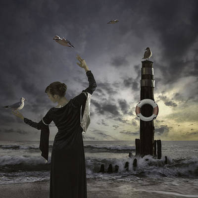 Belted Dress Photograph - Queen Of The Seagulls by Joana Kruse