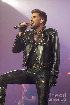 Photograph - Queen Singer Adam Lambert by Concert Photos