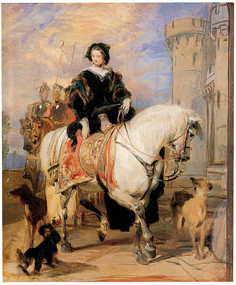 Women On Horses Painting - Queen Victoria On Horseback by Sir Edwin Landseer