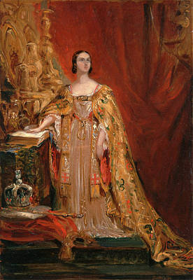 Taking Oath Painting - Queen Victoria Taking The Coronation Oath, June 28 by Litz Collection