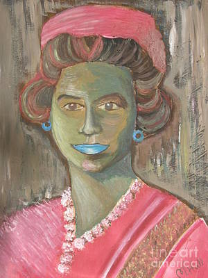 Royals Painting - Queen With Hat by Mercedes  Hall