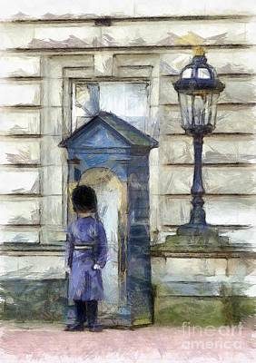 Buckingham Palace Painting - Queens Guard by Hoetmer Art