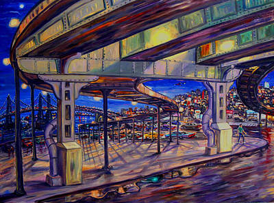 Abstract Painting - Queens Overpass by Arthur Robins