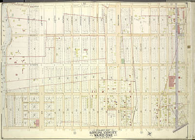 Long Island Drawing - Queens, Vol. 2, Double Page Plate No. 10 Part Of Long by Litz Collection