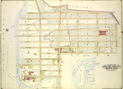 Long Island Drawing - Queens, Vol. 2, Double Page Plate No. 11 Part Of Long by Litz Collection