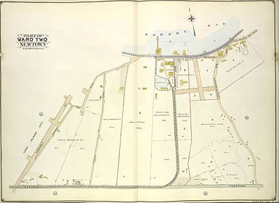Long Island Drawing - Queens, Vol. 2, Double Page Plate No. 13 Part Of Ward Two by Litz Collection