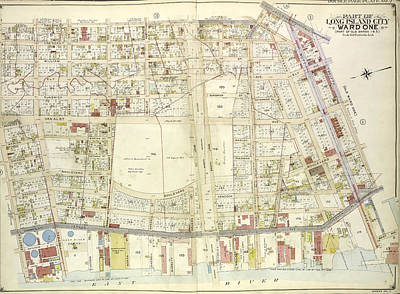 Long Island Drawing - Queens, Vol. 2, Double Page Plate No. 2 Part Of Long Island by Litz Collection