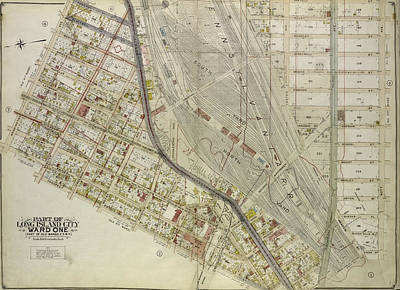 Long Island Drawing - Queens, Vol. 2, Double Page Plate No. 3 Part Of Long Island by Litz Collection