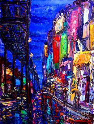 Subways Painting - Queensboro Blues by Arthur Robins