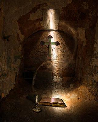 Faithful Digital Art - Questioning God by Jeff Burgess