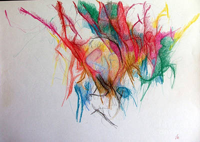 Creativity Drawing - Questions Within Answers 2 by David Baruch Wolk