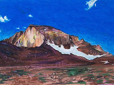 Quick Sketch - Longs Peak 2 Print by Aaron Spong