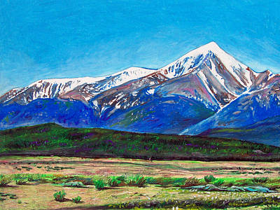 Quick Sketch - Mt. Elbert Print by Aaron Spong