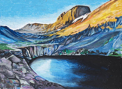 Willow Lake Painting - Quick Sketch - Kit Carson Peak by Aaron Spong