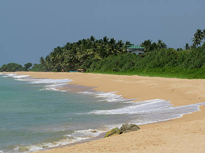 A2 Photograph - Quiet Beach Along A2 Road, Bentota by Panoramic Images