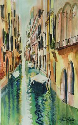 Painting - Quiet Canals Of Venice by Therese Fowler-Bailey