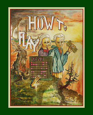 Quiet Gambling Keno Win Big Print by Michael Shone SR