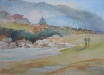 Beach Painting - Quiet Morning by John  Svenson