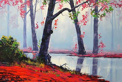 Fiery Painting - Quiet Stream by Graham Gercken