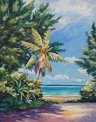 Bahamas Landscape Painting - Quiet Stretch Of Beach by John Clark