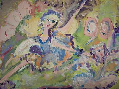 Quiet Time Fairies Original by Judith Desrosiers
