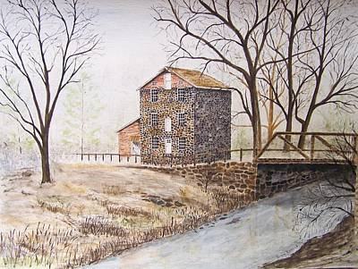 Old Feed Mills Painting - Quiet Times by Peter Kundra
