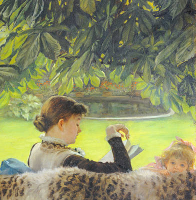 Bookworm Painting - Quiet by Tissot