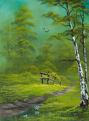 Bob Ross Style Painting - Quiet Trail by C Steele