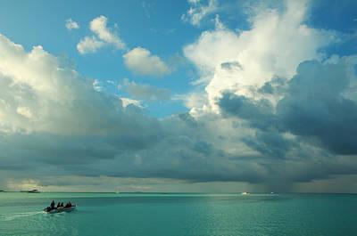 Color Transparency Photograph - Quiet Trip. Maldives by Jenny Rainbow