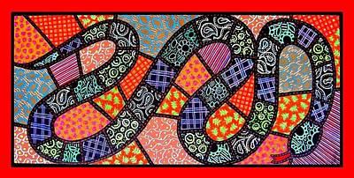 Quilted Black Snake Print by Jim Harris