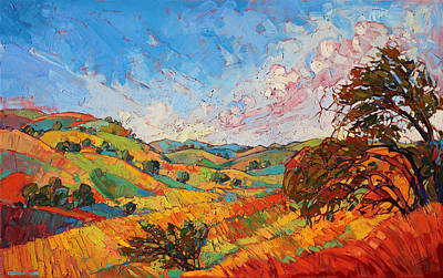Field. Cloud Painting - Quilted Color by Erin Hanson